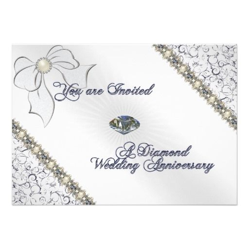 60th wedding anniversary invitation card pinterest wedding