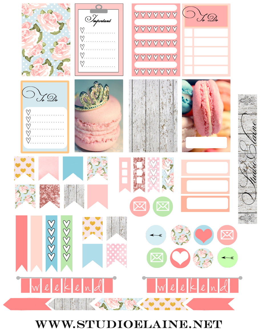 FREE Planner Stickers BY Studio Elaine                                                                                                                                                      More