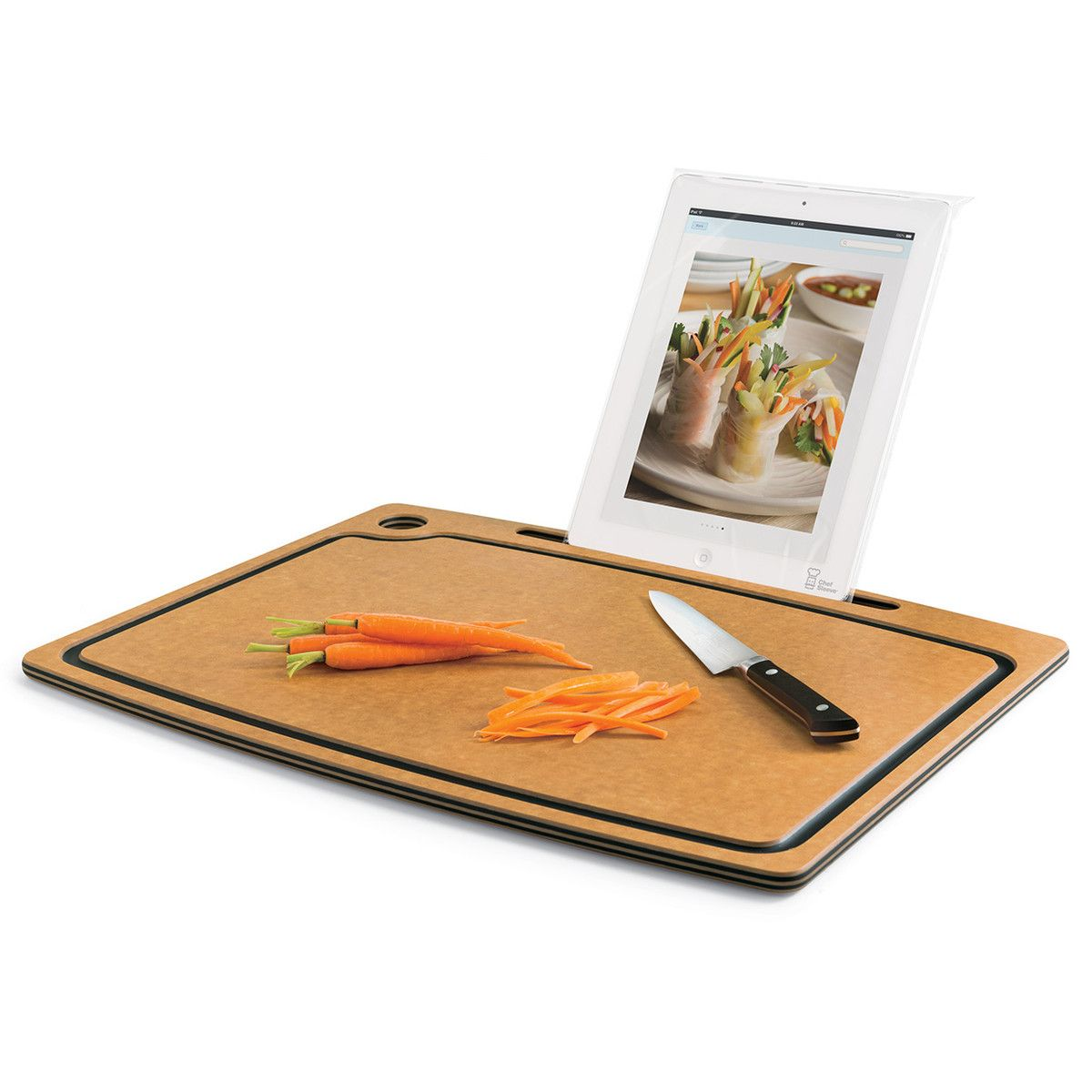 Zulily Kitchen Tools Cutting Board With Ipad Stand By Chef Sleeve Products