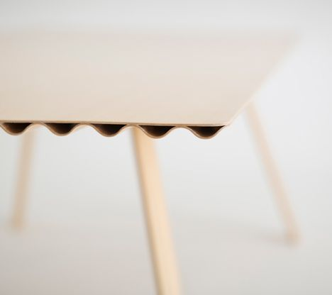 Ripple lightest wooden table in the world by Benjamin Hubert