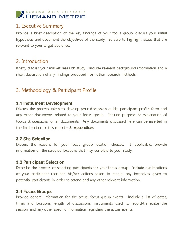 Focus Group Discussion Report Template 8 Professional Templates Report Template Meeting Notes Template Focus Group
