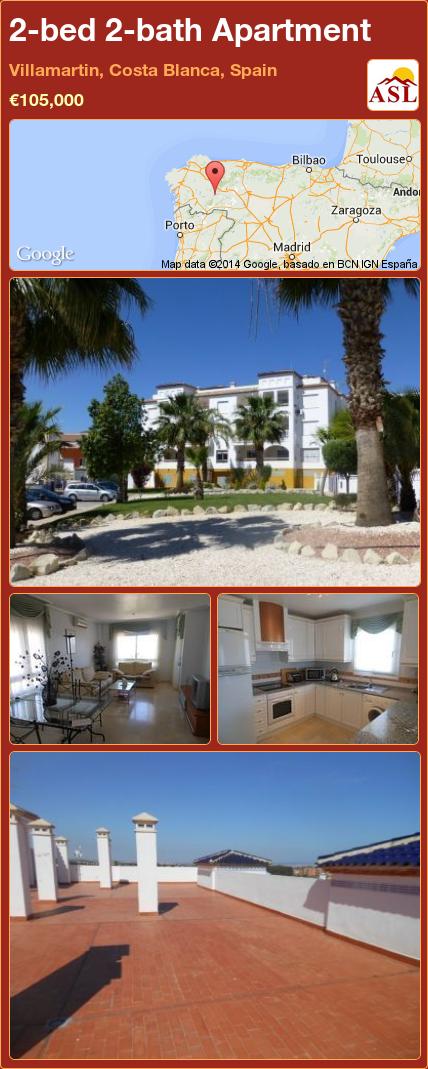 2bed 2bath Apartment in Villamartin, Costa Blanca, Spain