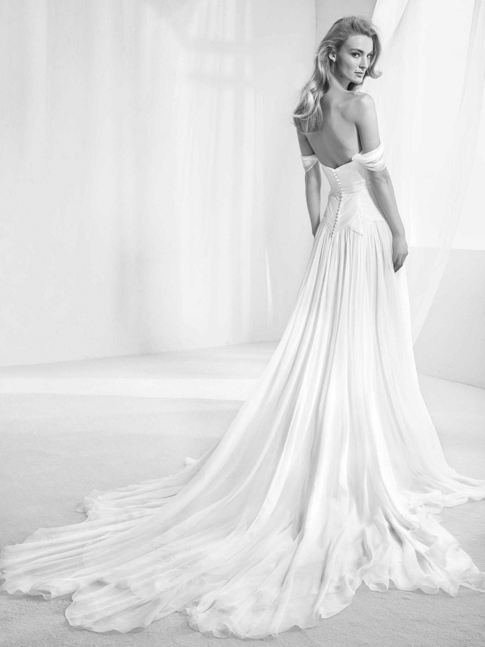 Kloş etekli gelinlik | wedding | Pinterest | Wedding dress, Atelier ...