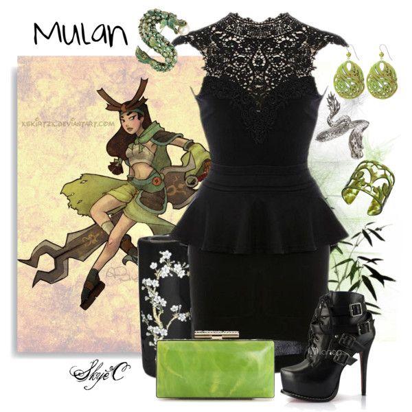 mulan warrior inspired outfit pinterest tenues inspiration et mode. Black Bedroom Furniture Sets. Home Design Ideas