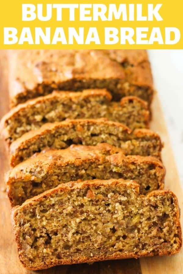 Buttermilk Banana Bread Made With Roasted Bananas Is So Moist And Full Of Flavour Very Easy To P Buttermilk Banana Bread Buttermilk Recipes Best Banana Bread