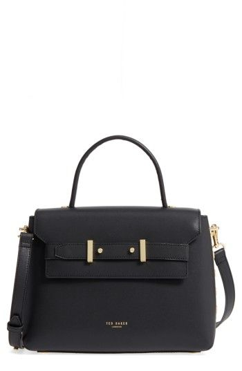 81405b777fc TED BAKER TED BAKER LONDON TAYMAR - STUDDED EDGE LADY BAG LEATHER TOP  HANDLE SATCHEL - BLACK. #tedbaker #bags #shoulder bags #hand bags #leather  #satchel #