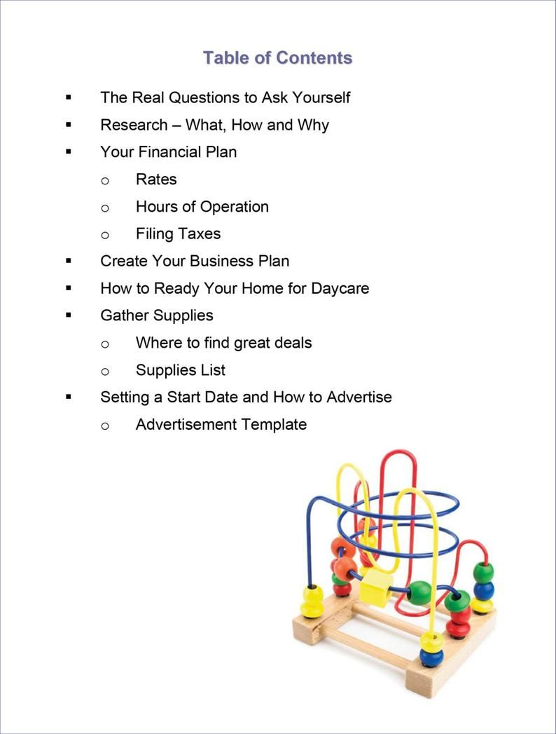 How To Open A Home Daycare Business Etsy Daycare Business Plan Starting A Daycare Opening A Daycare