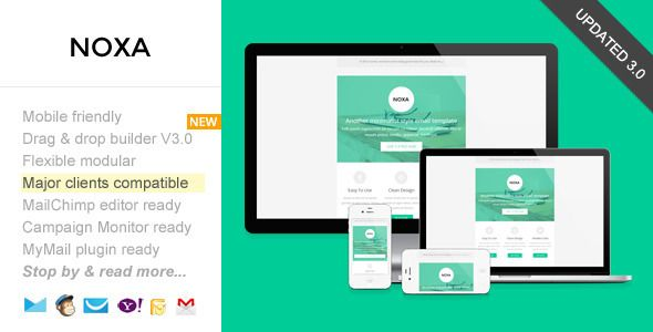 Noxa Responsive Email With Template Builder Responsive Email And