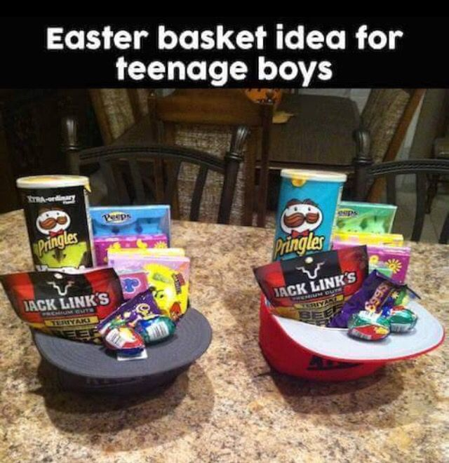 Easter basket for teen boys hippity hoppity pinterest teen easter basket idea for a teen or adult girl boy man woman negle Gallery