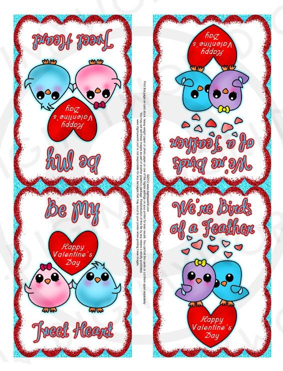 Printables For Your Kids Valentine Card Hand Outs Sweet Birds Valentine S Cards For Kids Printable Valentines Cards Valentines For Kids
