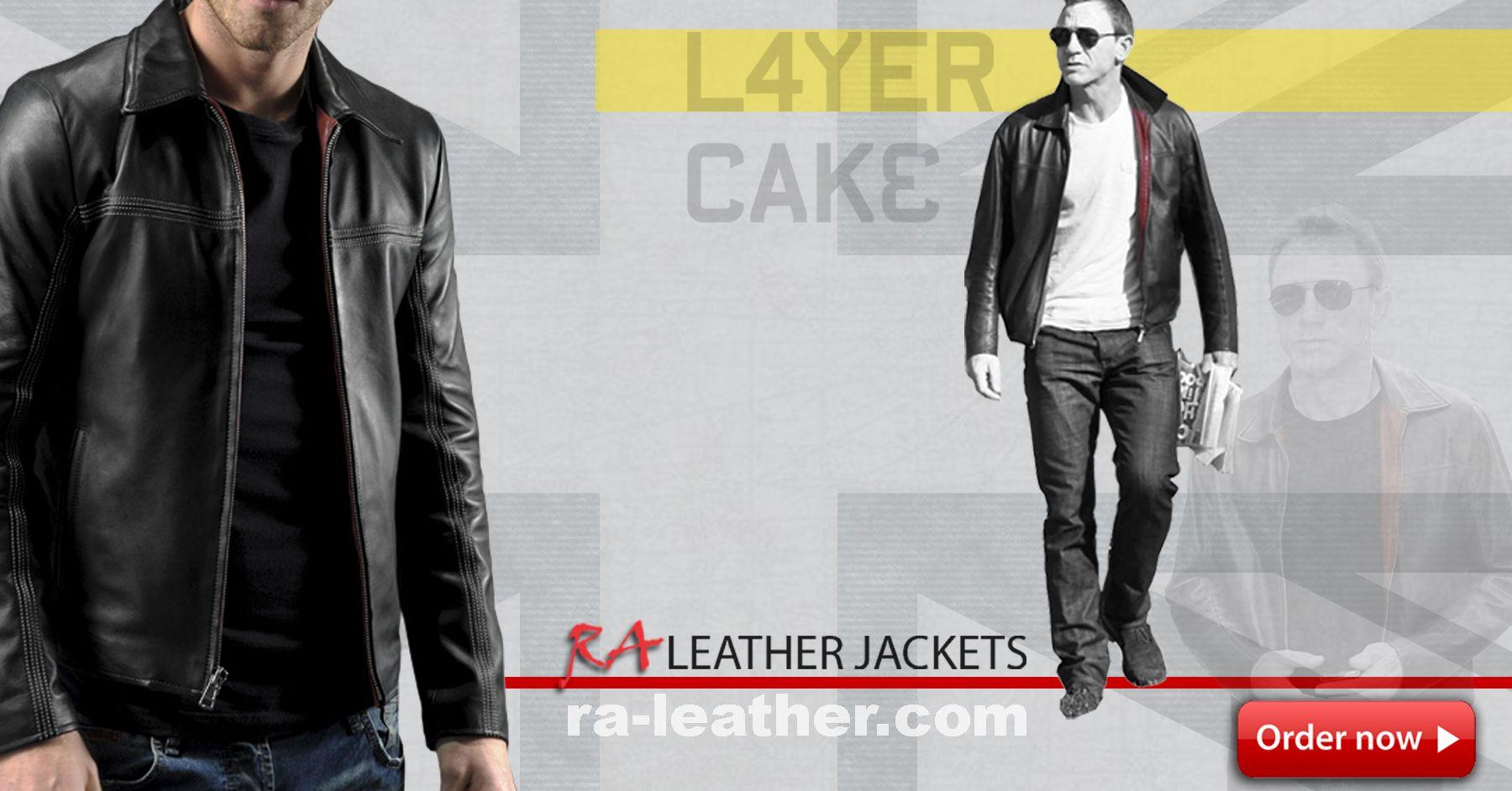 Jaket Kulit Mf1227 Layer Cake Pria Leather Jacket David Black Daniel Craig Di Film Harga Rp 850k
