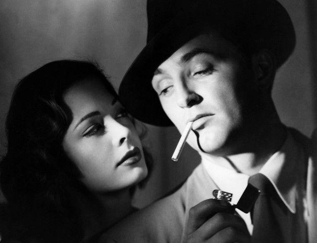 Robert Mitchum y Jane Greer