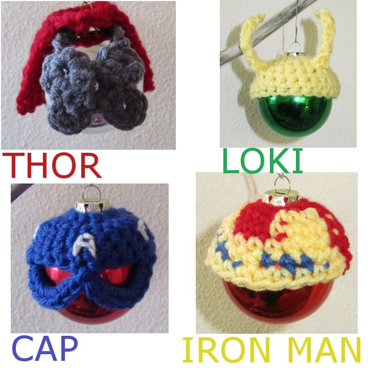 Crochet Avengers Holiday Ornaments Diy Gift Patterns For Sale On