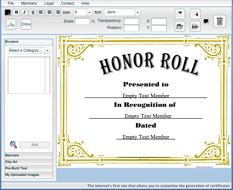 create awards certificates  Certificate Creator – Create and print awards and certificates for ...