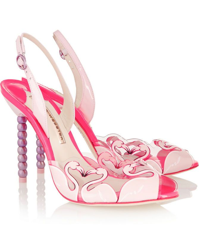 c96910b5318c87 SOPHIA WEBSTER Flamingo PVC and Patent Leather Sandals