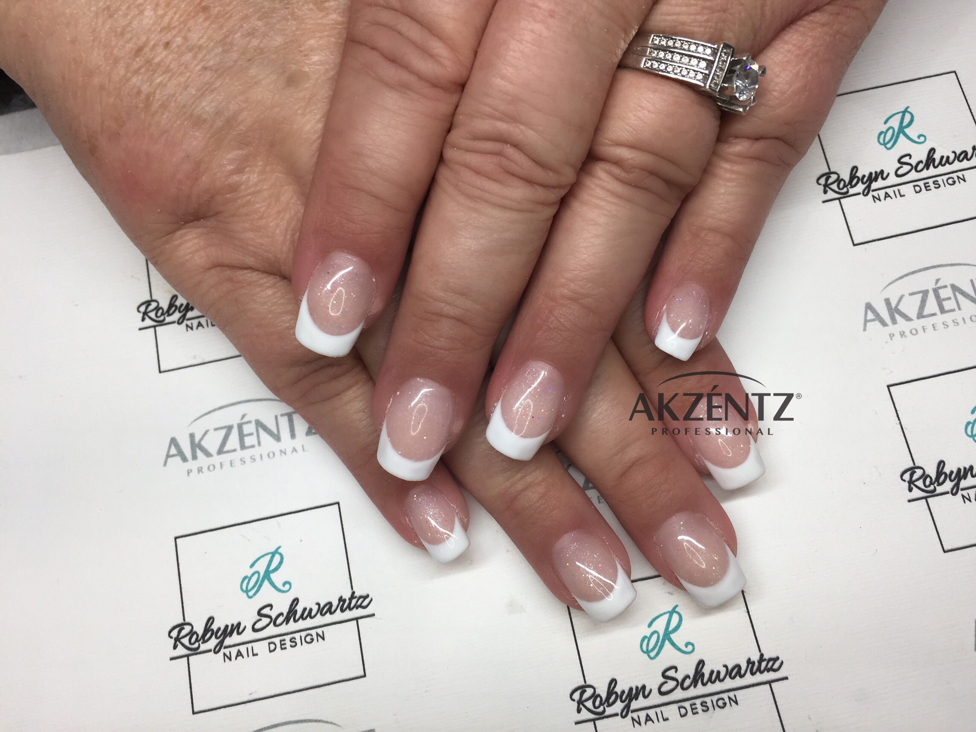 Clic French Square Gel Nails