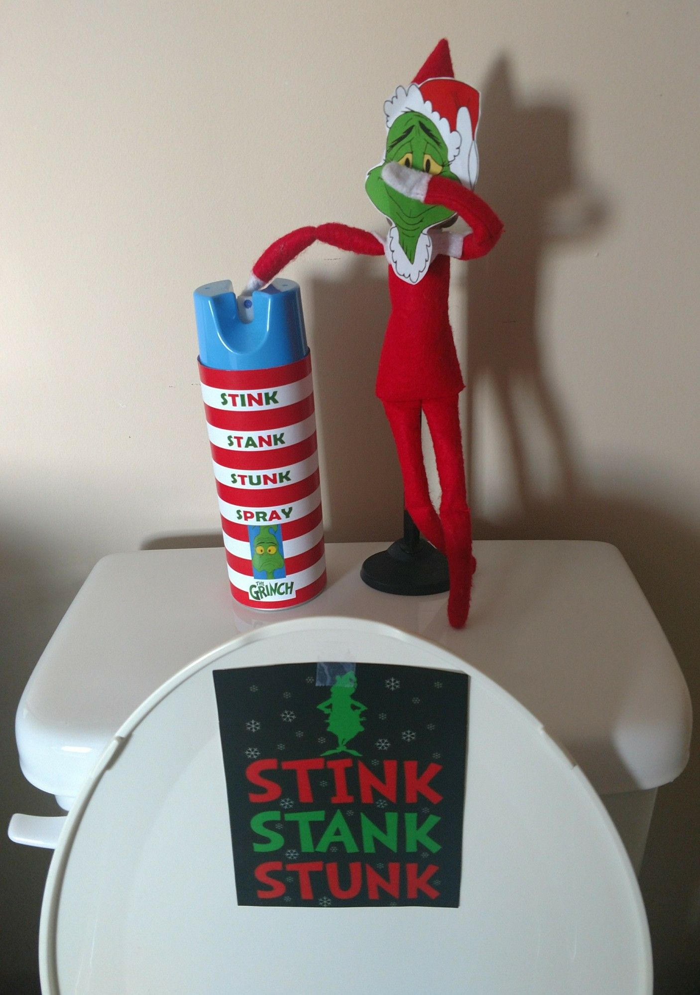 Elf on the Shelf Grinch Stink Stank Stunk Elf on the