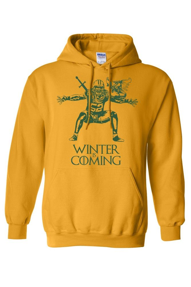 Image of Packers Clay Matthews Game of Thrones Winter is Coming Hoodie be77300b6