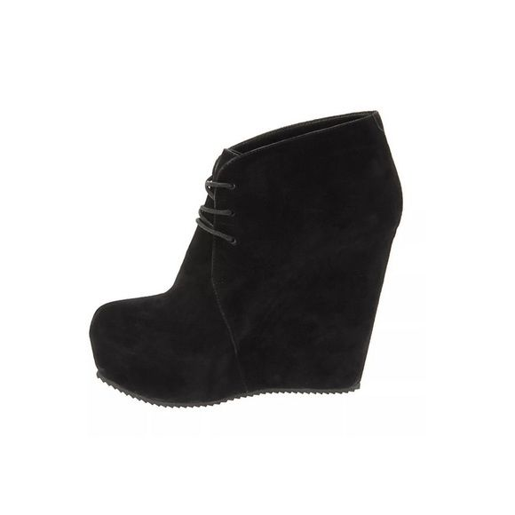 "Aldo ""Sandidge"" Black Suede Booties Aldo ""Sandidge"" black suede booties with a platform heel. These booties were only worn a couple of times and there are minor scuffs. ALDO Shoes Ankle Boots & Booties"