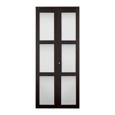 Reliabilt in  espresso lite tempered frosted glass interior bifold closet door pinterest doors and also rh