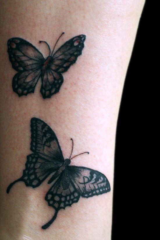 Black And Grey Butterfly Tattoos Google Zoeken Butterfly Tattoo White Tattoo Black Girls With Tattoos