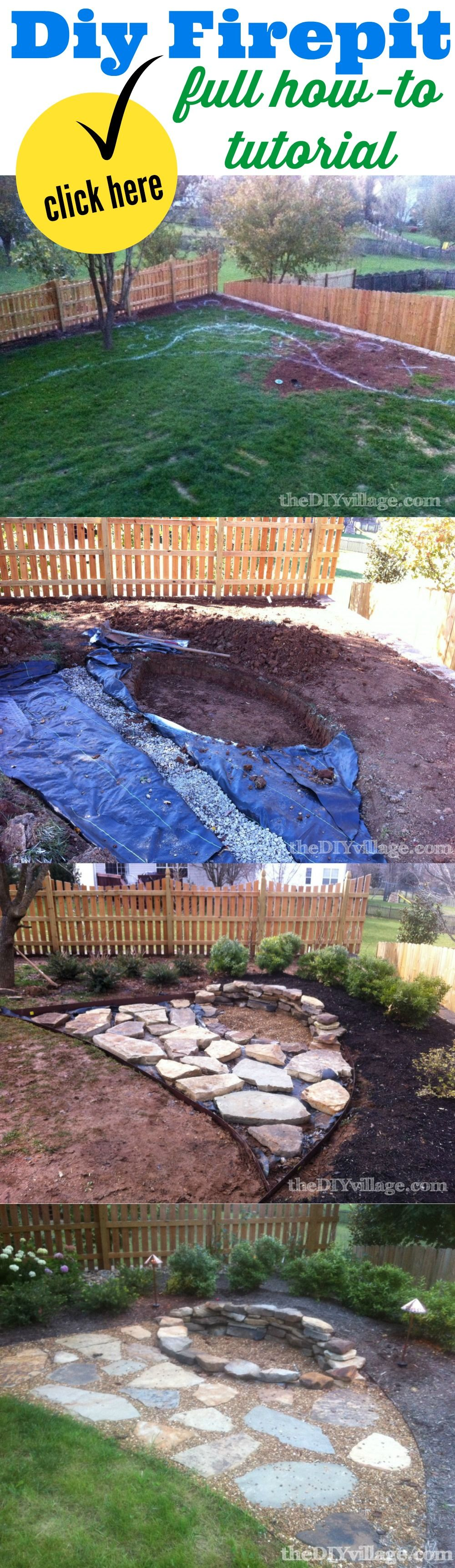 building a stacked stone fire pit tutorials stone and backyard