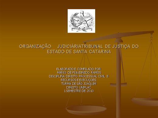 Curso online de Organizacao Judiciaria de Santa Catarina