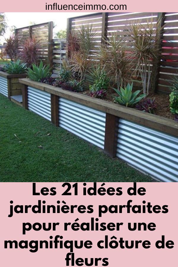 Photo of 21 idées de jardinières de clôture facile à faire et super uniques