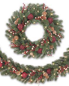 Vermont White Spruce Bordeaux Wreath