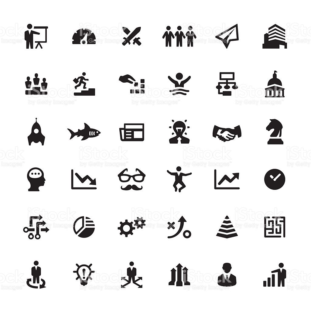 Business Strategy Related Symbols And Icons
