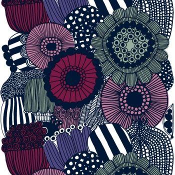 Siirtolapuutarha kangas, valkoinen-violetti