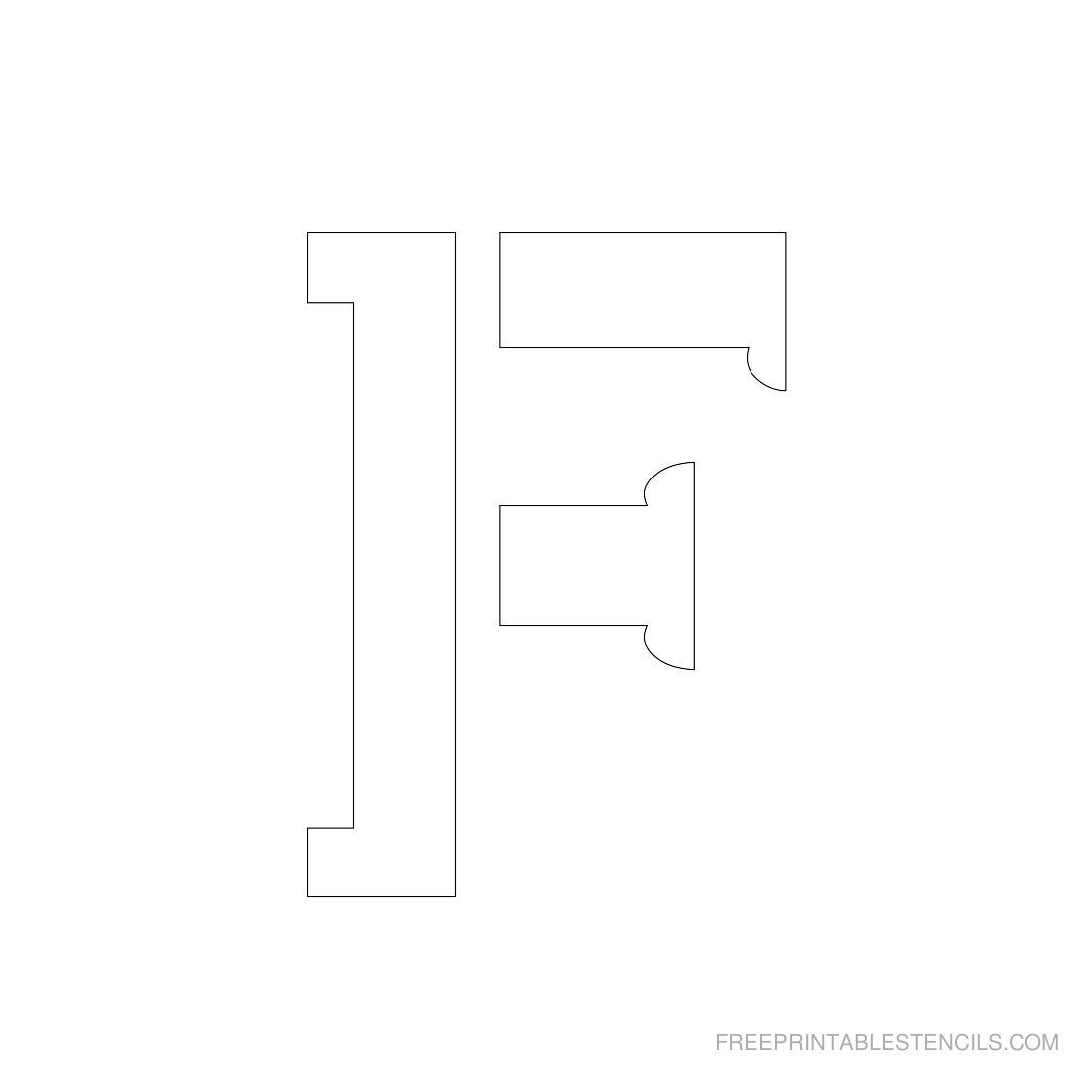 Printable 3 Inch Letter Stencils A Z