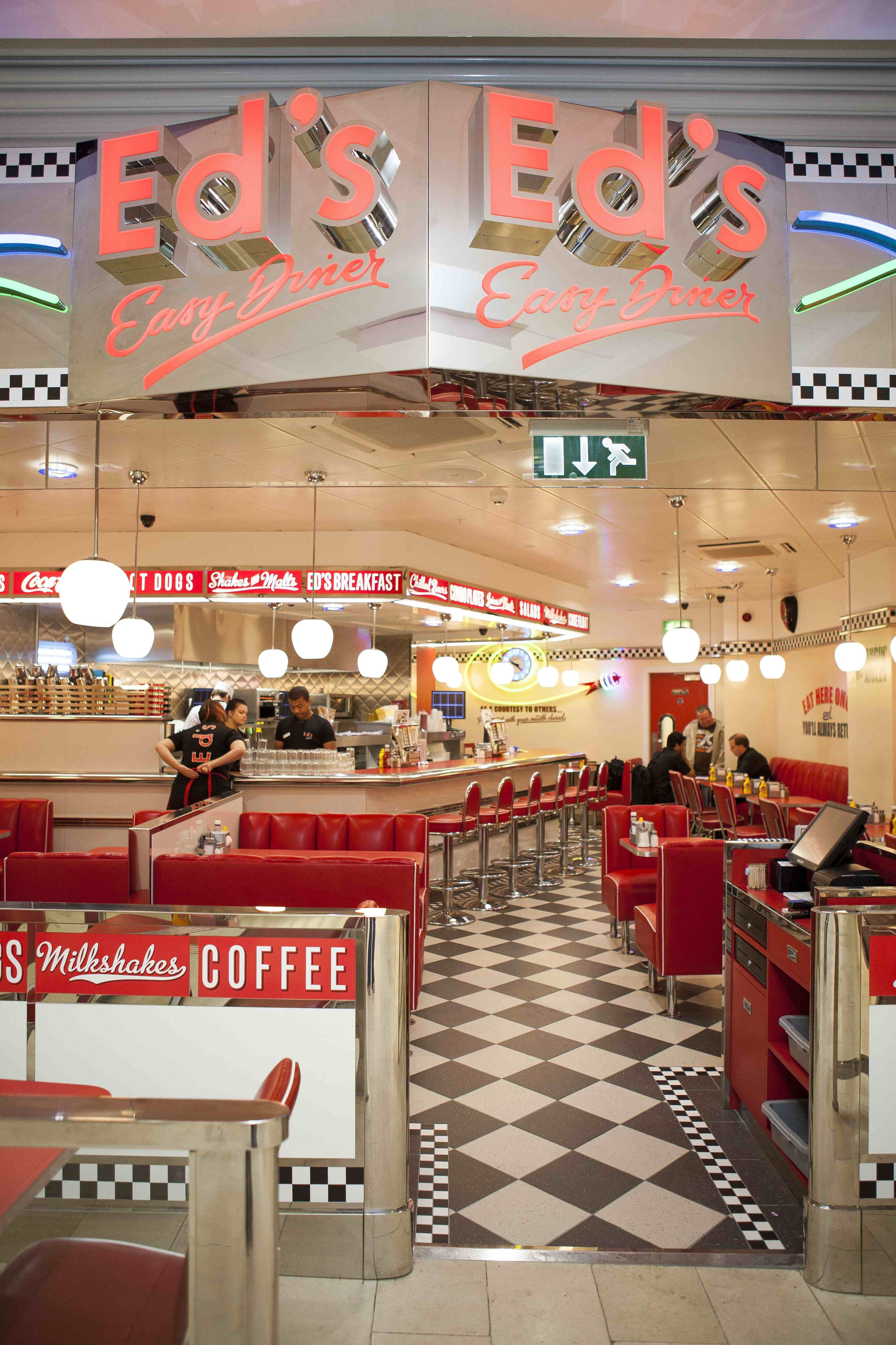 Küche American Diner Style 1950 39s Burger Diners All American Menu At Eds Diner In