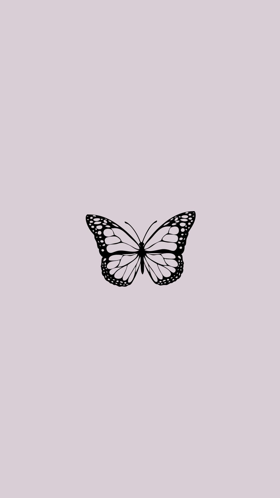 Purple Aesthetic Butterfly Wallpaper