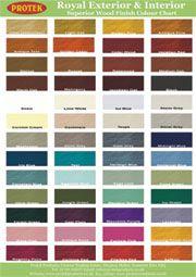 Fence Paint Colour Chart Protek