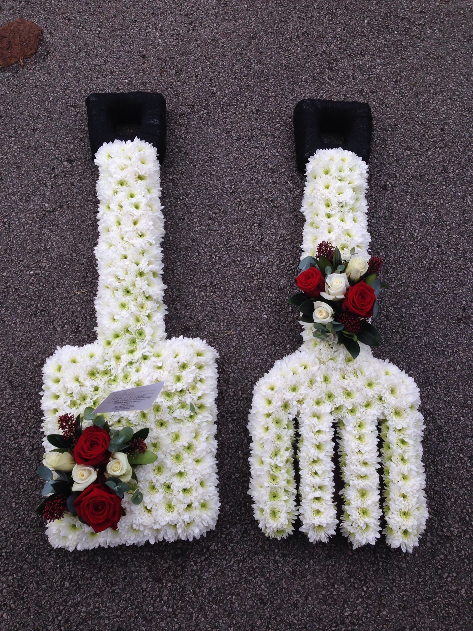 garden spade and fork floral tributes by donna may pinterest