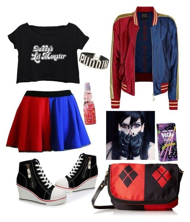 """""""another Harley Quinn"""" by luna-the-outcast ❤ liked on Polyvore"""