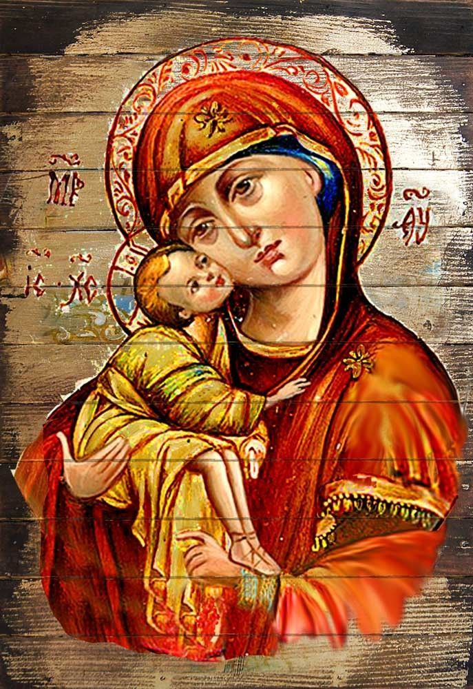 Inspirational Icon Vladimir Virgin Mary Wall Art on Wood  sc 1 st  Pinterest & Inspirational Icon Vladimir Virgin Mary Wall Art on Wood | Virgin ...