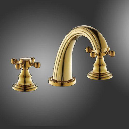 Bathroom Faucets Diy Luxury 3piece Dual Cross Handles Widespread