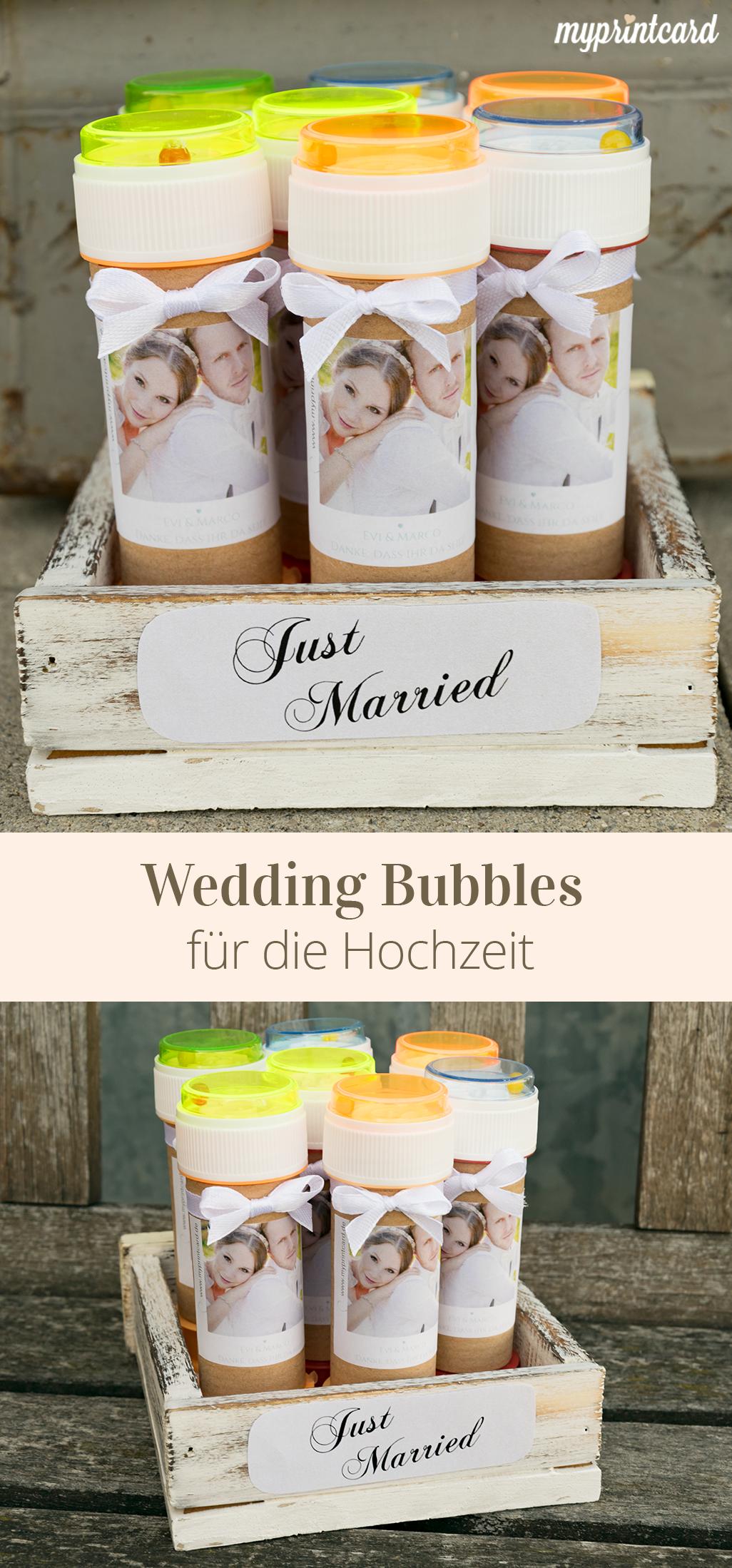 Voll Im Trend Wedding Bubbles Fur Die Hochzeit Die Seifenblasen Konnt Ihr Als Kleines Gastgeschenk Vorbereiten Und E