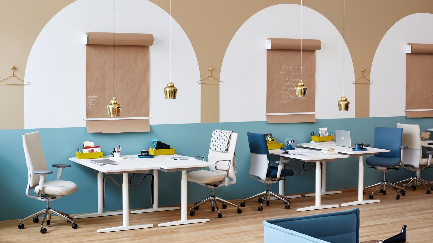In the new installation in the vitrahaus dorothée meilichzon has created a home office scene and interior officehome officeoffice designspendant