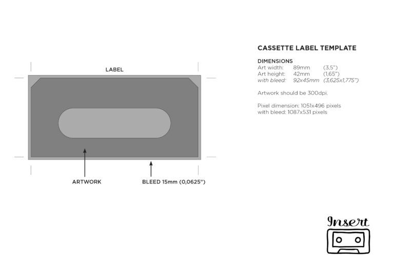 Templates Insert Tapes Within Cassette J Card Template Card Template Label Templates Note Card Template