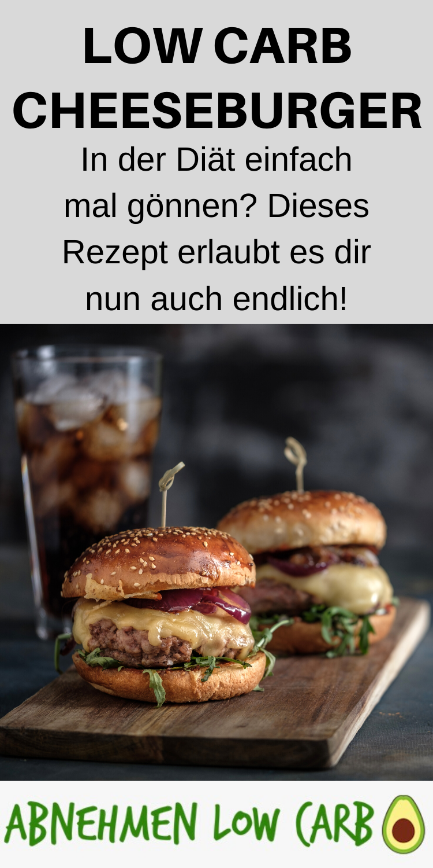 Low Carb Cheeseburger - Abnehmen Low Carb