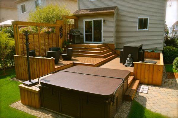 patio plus terrasses paliers idees terrasse pinterest palier patios et terrasses. Black Bedroom Furniture Sets. Home Design Ideas