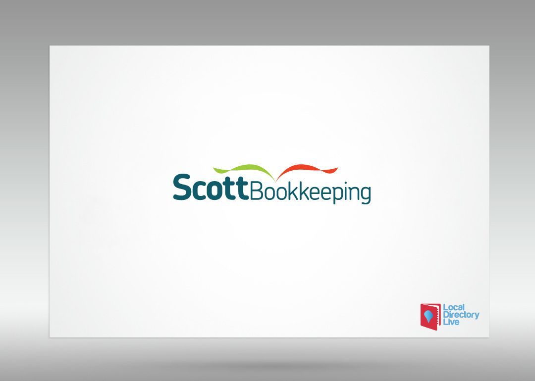 There is an accountancy of Bookkeeping theme going on here. A logo by Local Directory Live for Scott Bookkeeping.