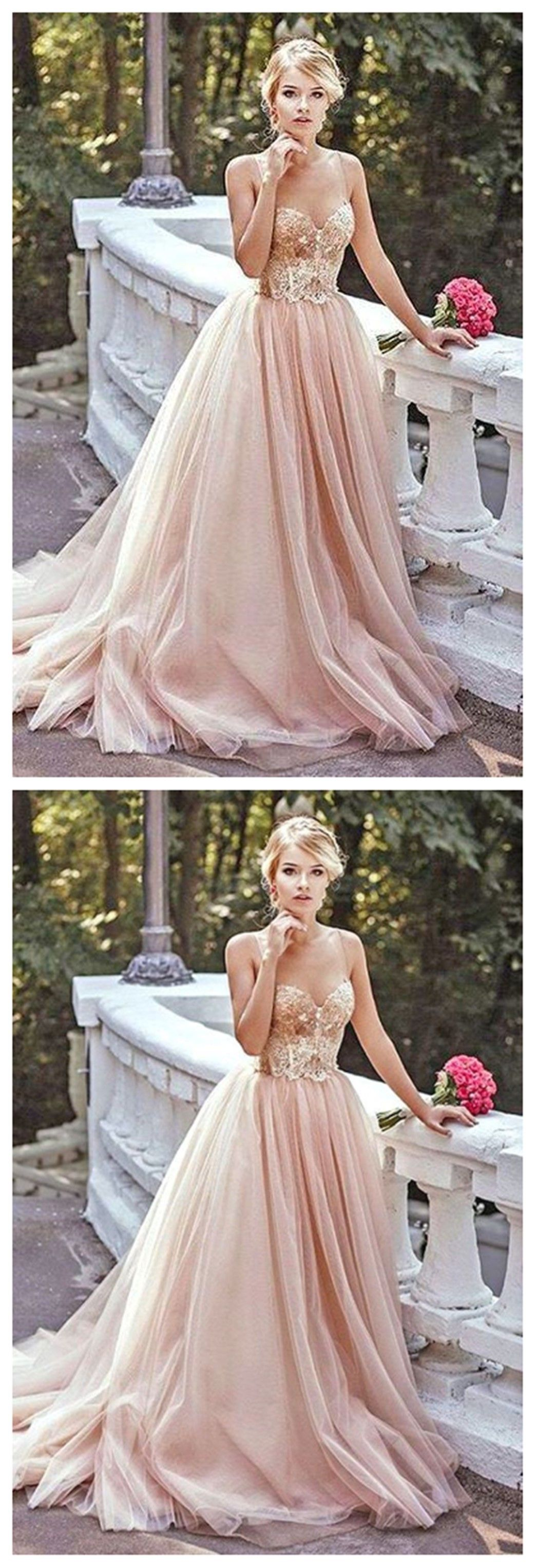 Gold sequin a line evening prom dresses long tulle party prom dress