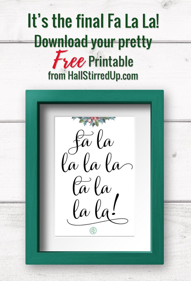 Fa La La Download Your Free Christmas Carol Printable Free Christmas Printables Holiday Printables Christmas Christmas Carol
