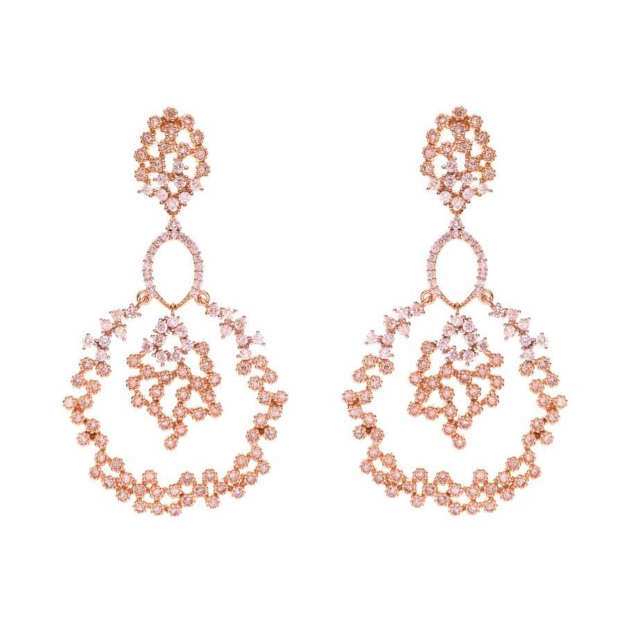 Angel Dust Earrings in rose gold