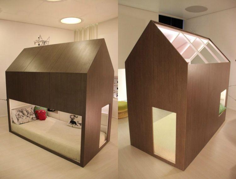 Ikea kura bett umgestalten betthaus modern minimalistisch design
