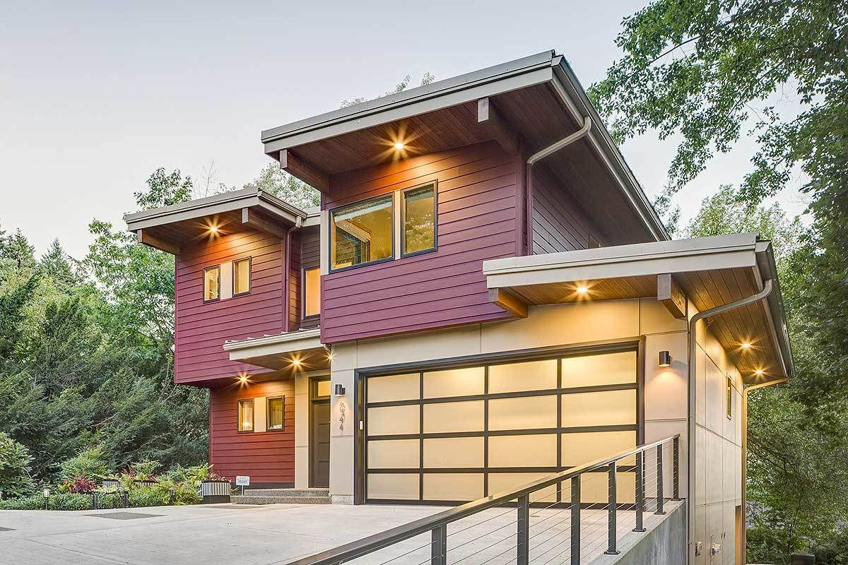 Plan 69588AM Contemporary Beauty For Sloping Lot